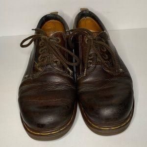 Men's dark brown vintage dr martens shoes